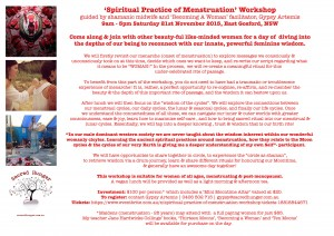 Spiritual Practice of Menstruation