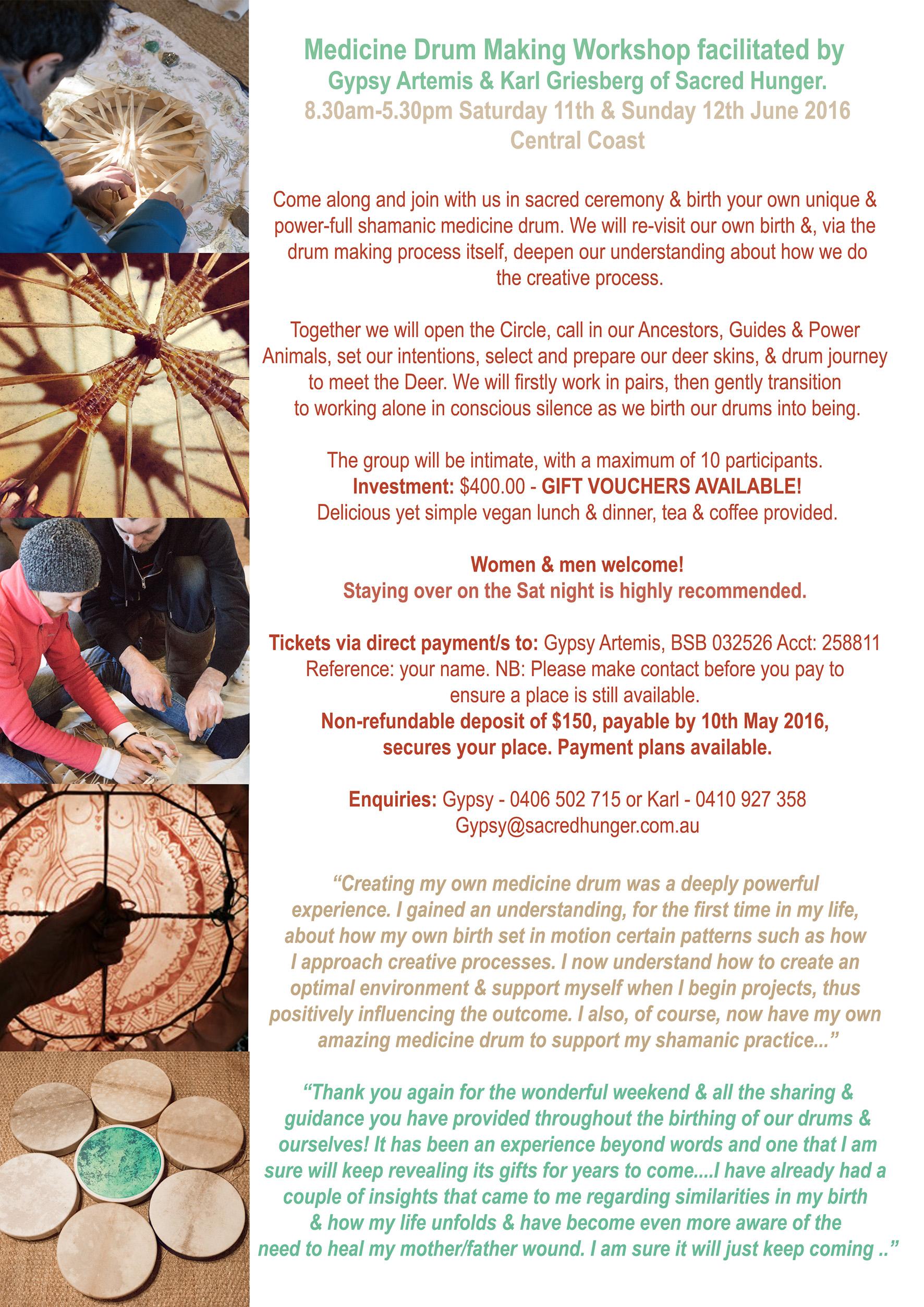 Winter Shamanic Medicine Drum Making Workshop – Make Your Own Voucher